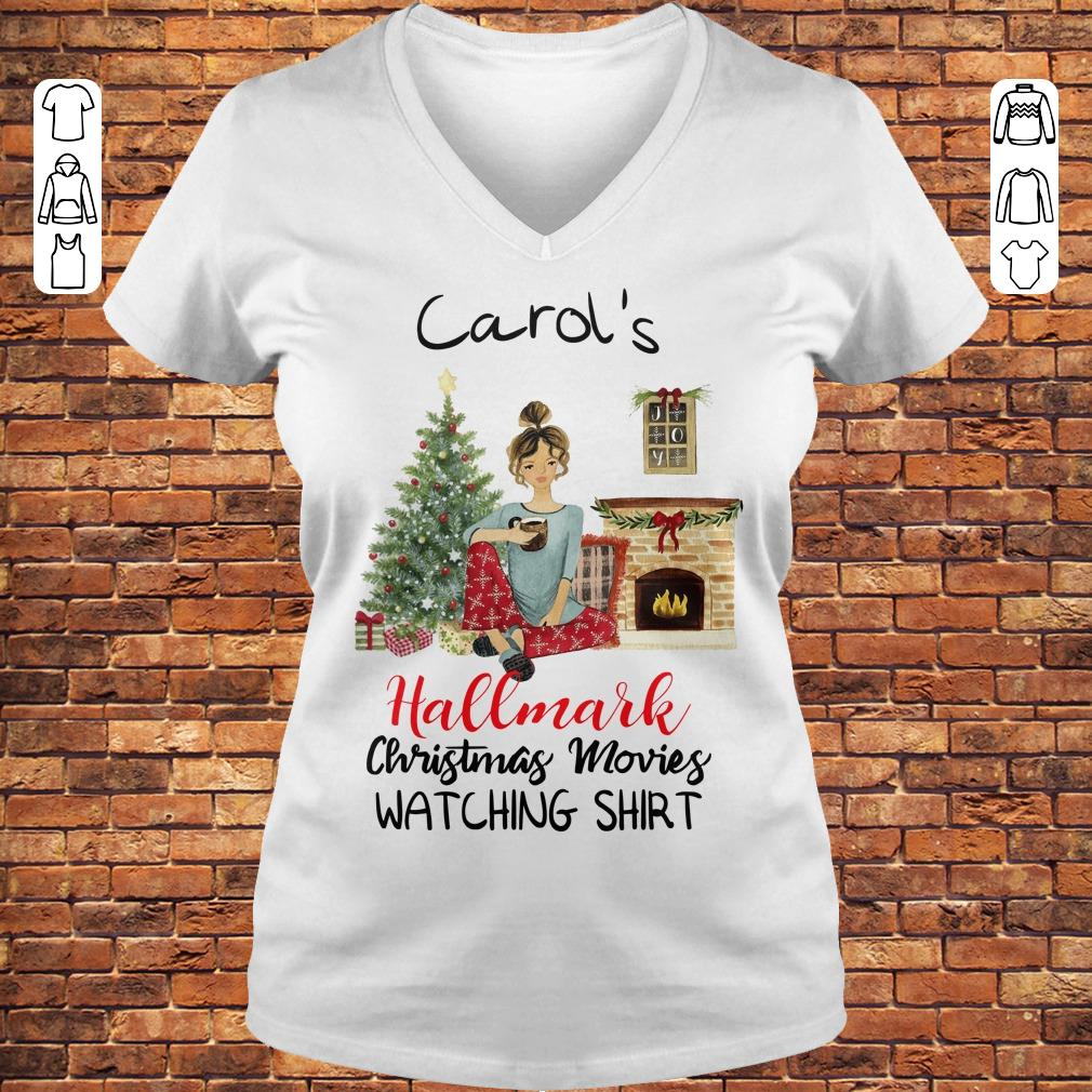 Carol's This is My Hallmark Christmas Movie Watching Shirt Ladies V-Neck