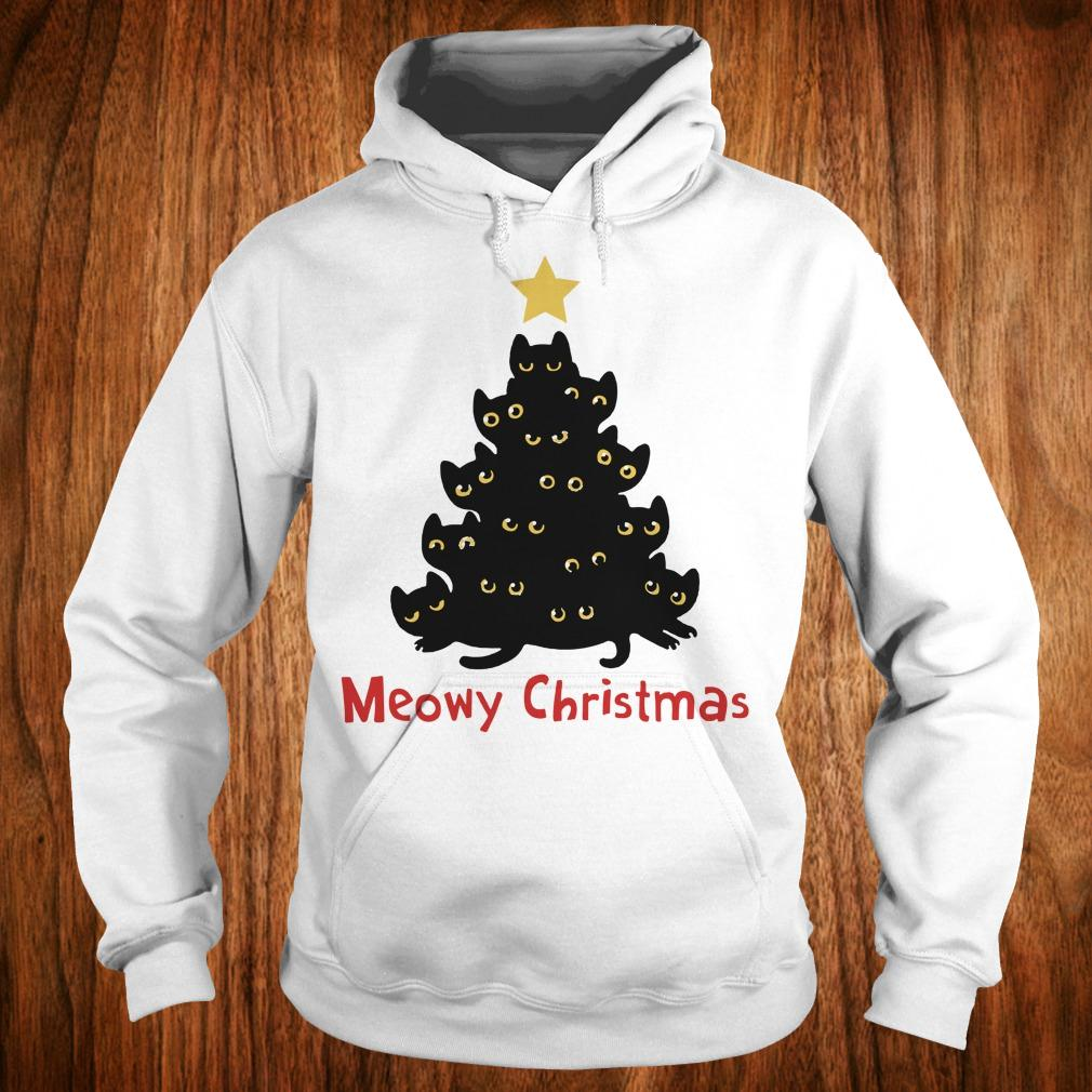 - Cat Meowy Christmas Tree sweatshirt