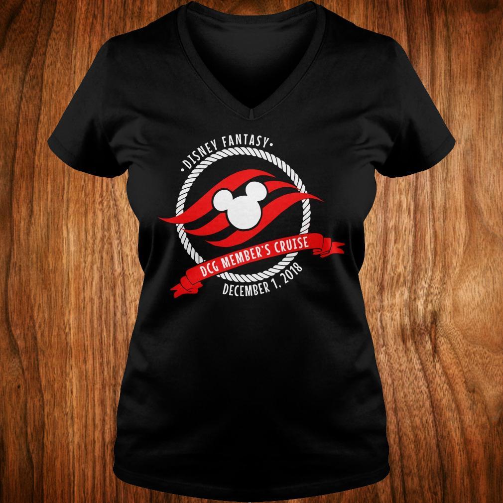 Disney fantasy DCG Member's Cruise shirt Ladies V-Neck