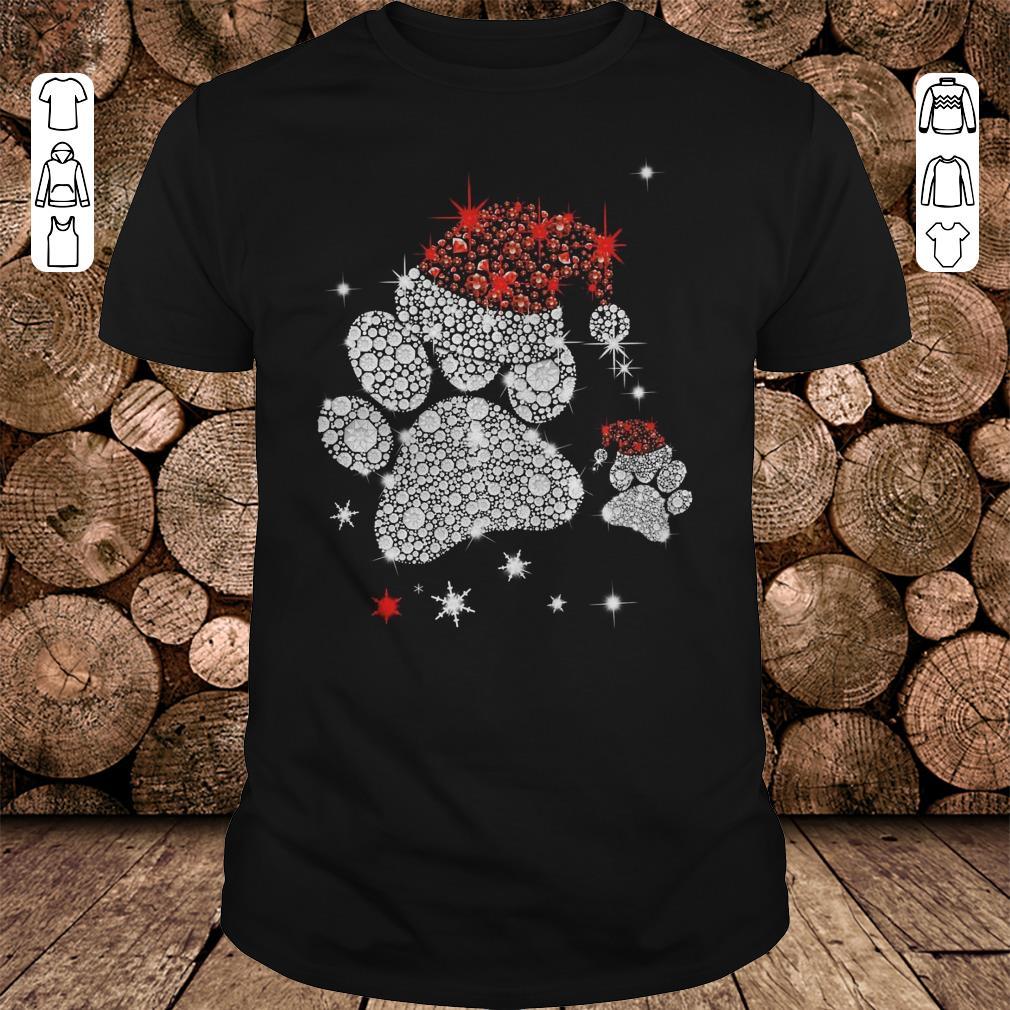 - Dog Footprint Santa Hat shirt