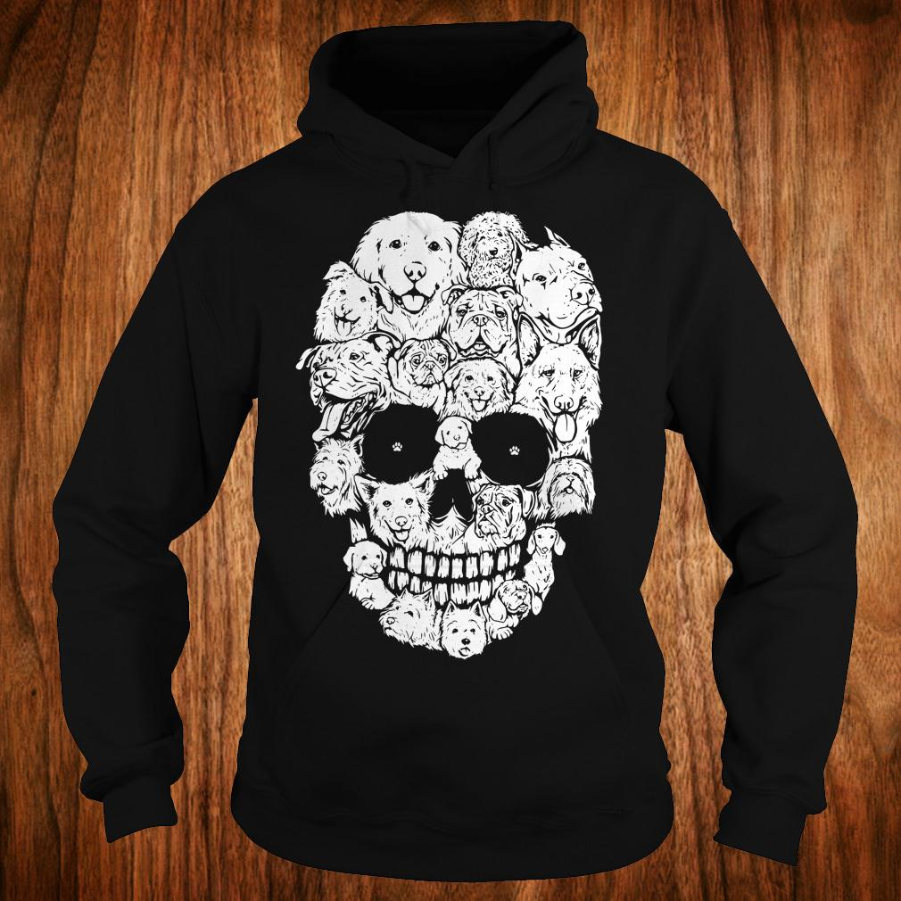 Dogs stacked into skull shirt Hoodie