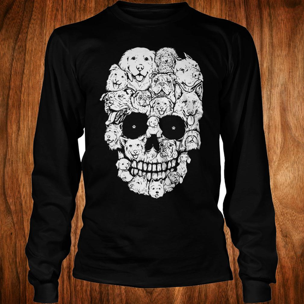 Dogs stacked into skull shirt Longsleeve Tee Unisex