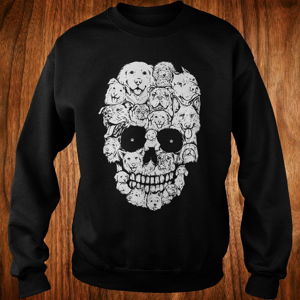 - Dogs stacked into skull shirt