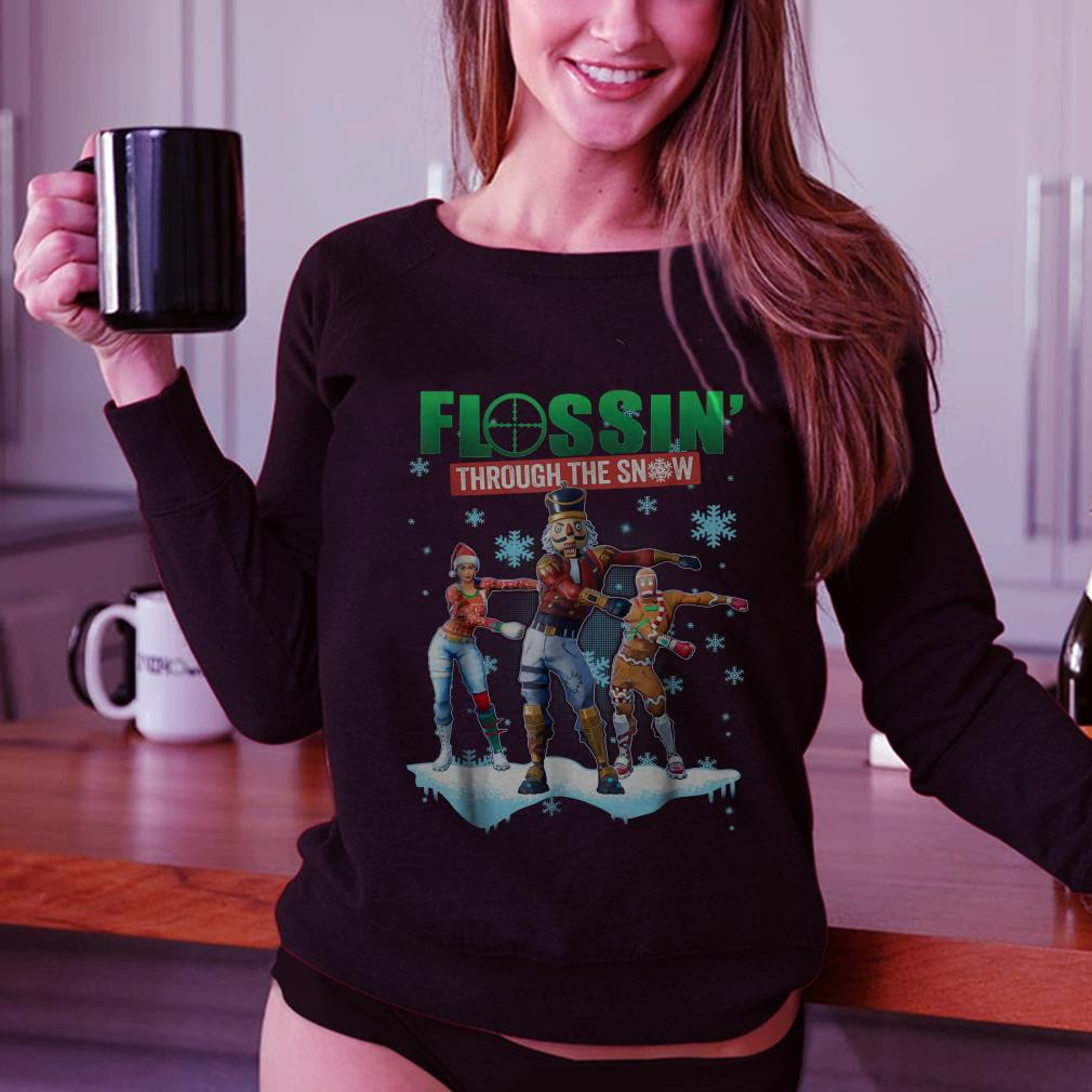 Fortnite Flossin Through the snow shirt 2