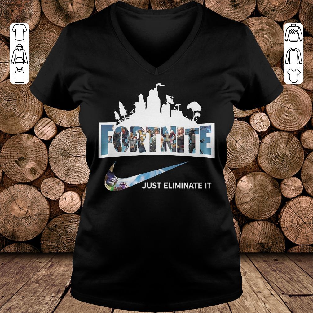 Fortnite just eliminate it shirt Ladies V-Neck