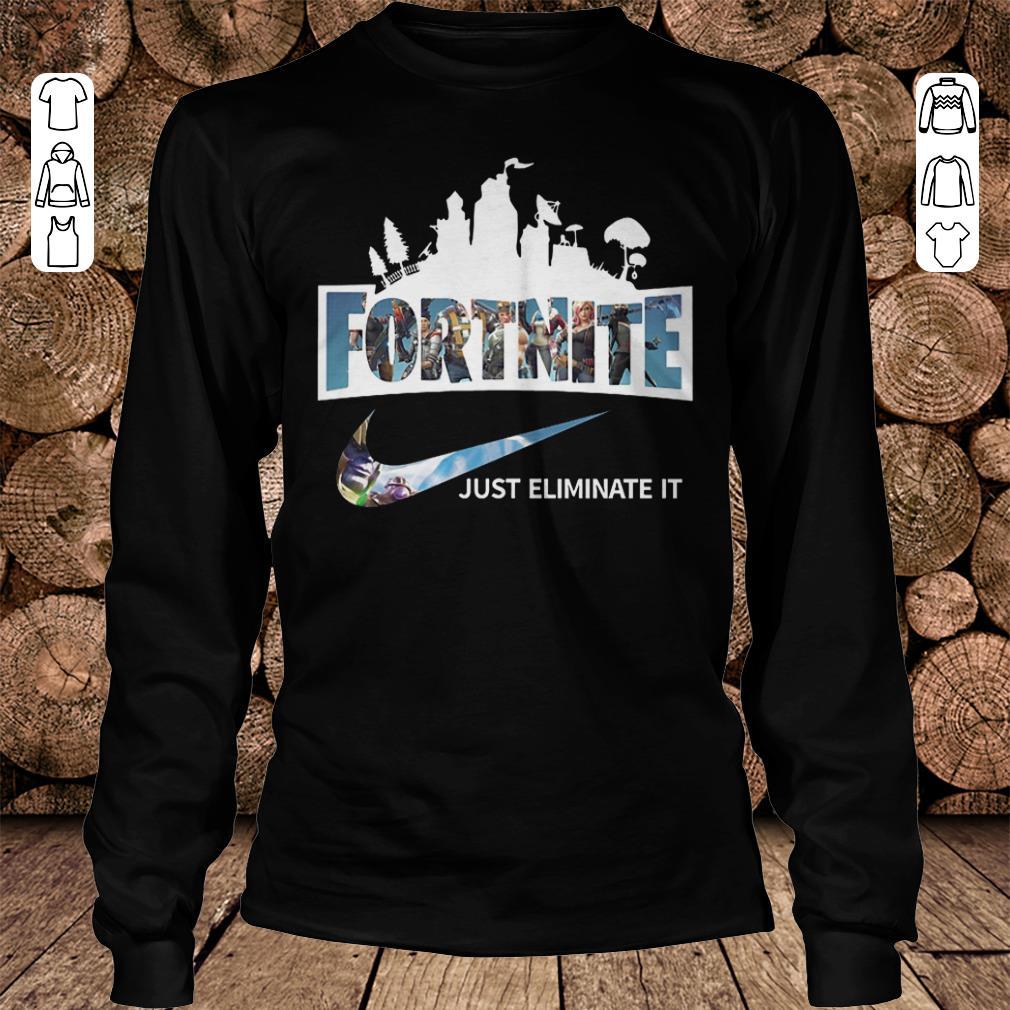 Fortnite just eliminate it shirt Longsleeve Tee Unisex