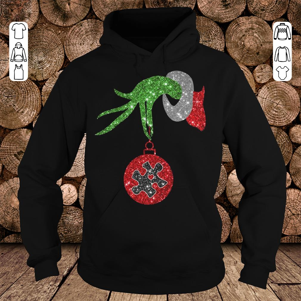 Grinch Hand Holds Autism Twinkle Ornament shirt Hoodie