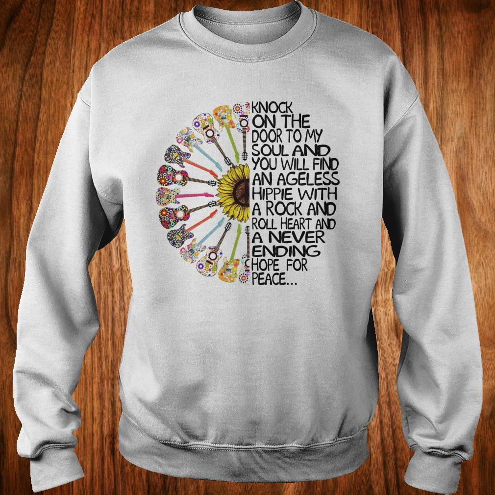 Hippie Soul Rock Guitar Knock on the door to my soul and you will find an ageless hippie shirt