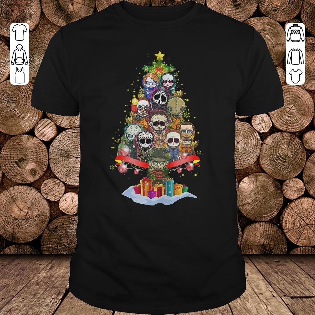 - Horror characters nightmare christmas tree shirt