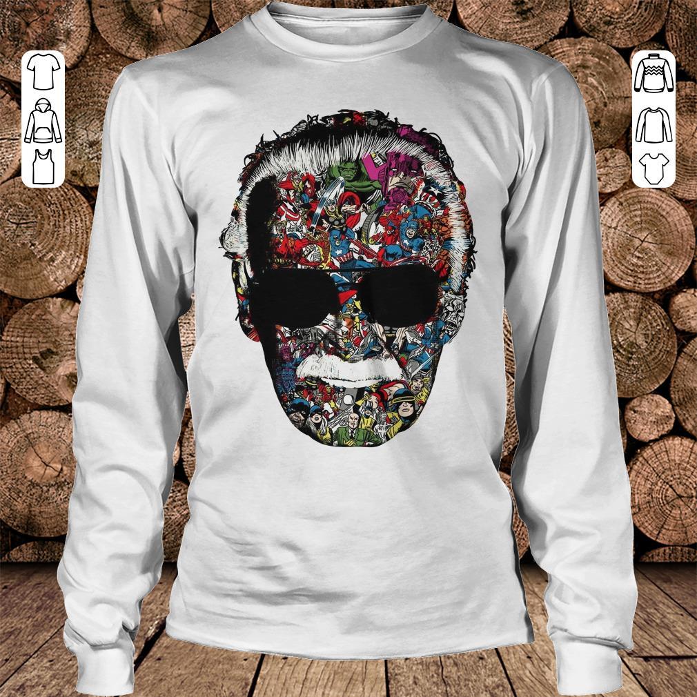 Man Of Many Faces Stan Lee shirt Longsleeve Tee Unisex