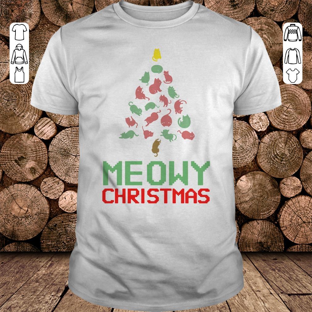 Meowy Christmas Tree shirt 1