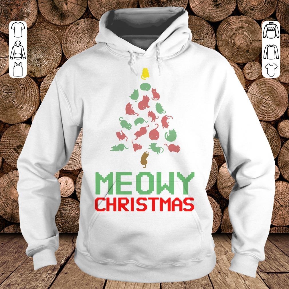 Meowy Christmas Tree shirt Hoodie