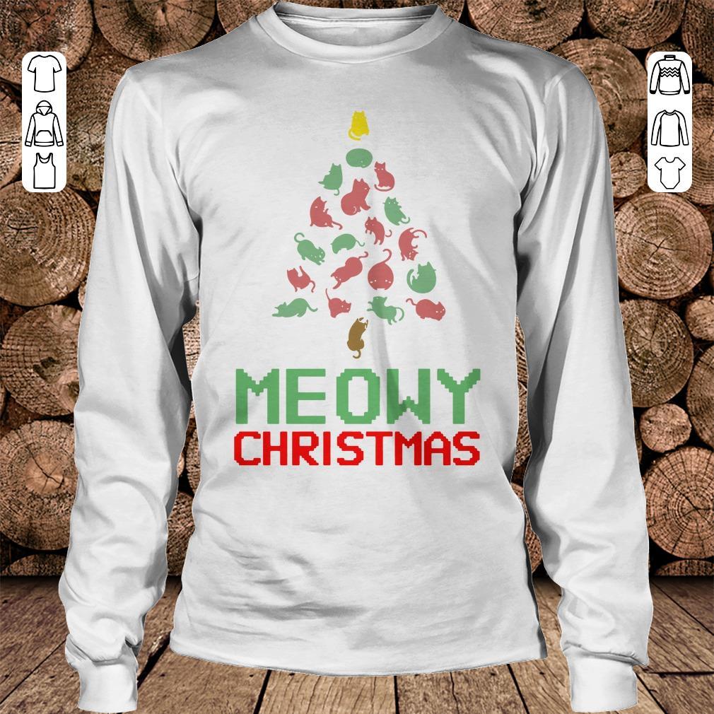 Meowy Christmas Tree shirt Longsleeve Tee Unisex