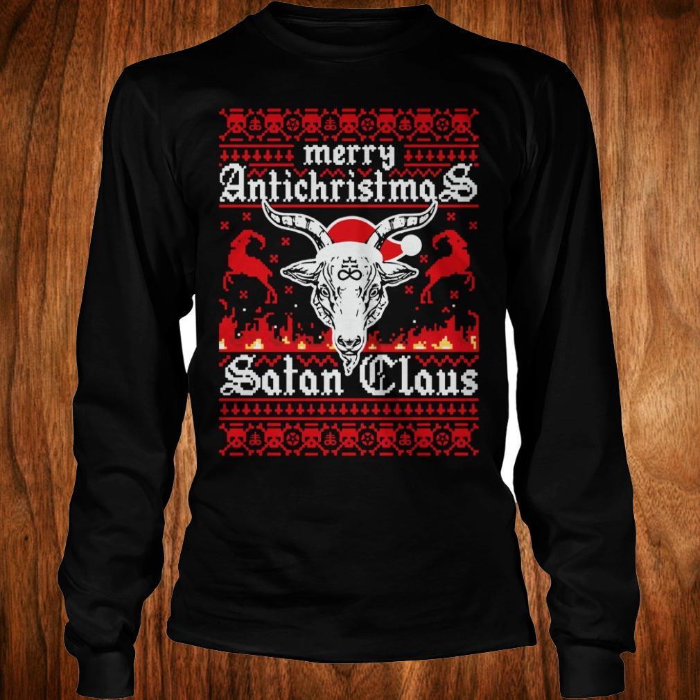 - Merry Antichristmas Satan Claus Ugly Christmas Sweatshirt