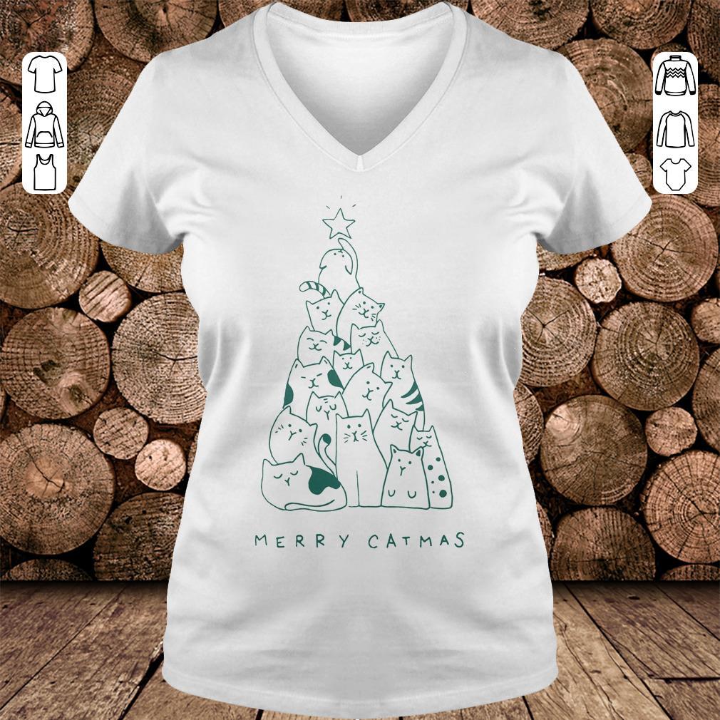 Merry catmas shirt Ladies V-Neck