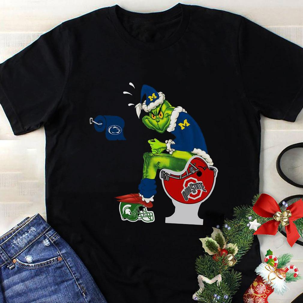 Michigan Grinch Ohio State Toilet shirt