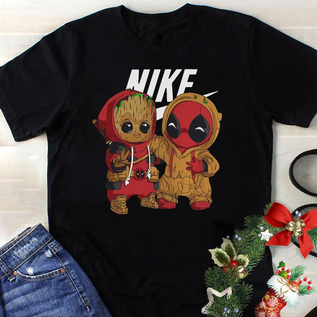 Clickbuypro Unisex Tshirt Nike Baby Groot And Deadpool Shirt Hoodie Forest Green M