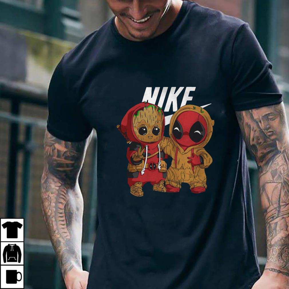 Nike Baby Groot And Deadpool shirt 2