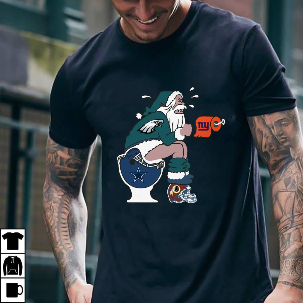 Philadelphia Eagles Santa Dallas Cowboys Toilet shirt 3
