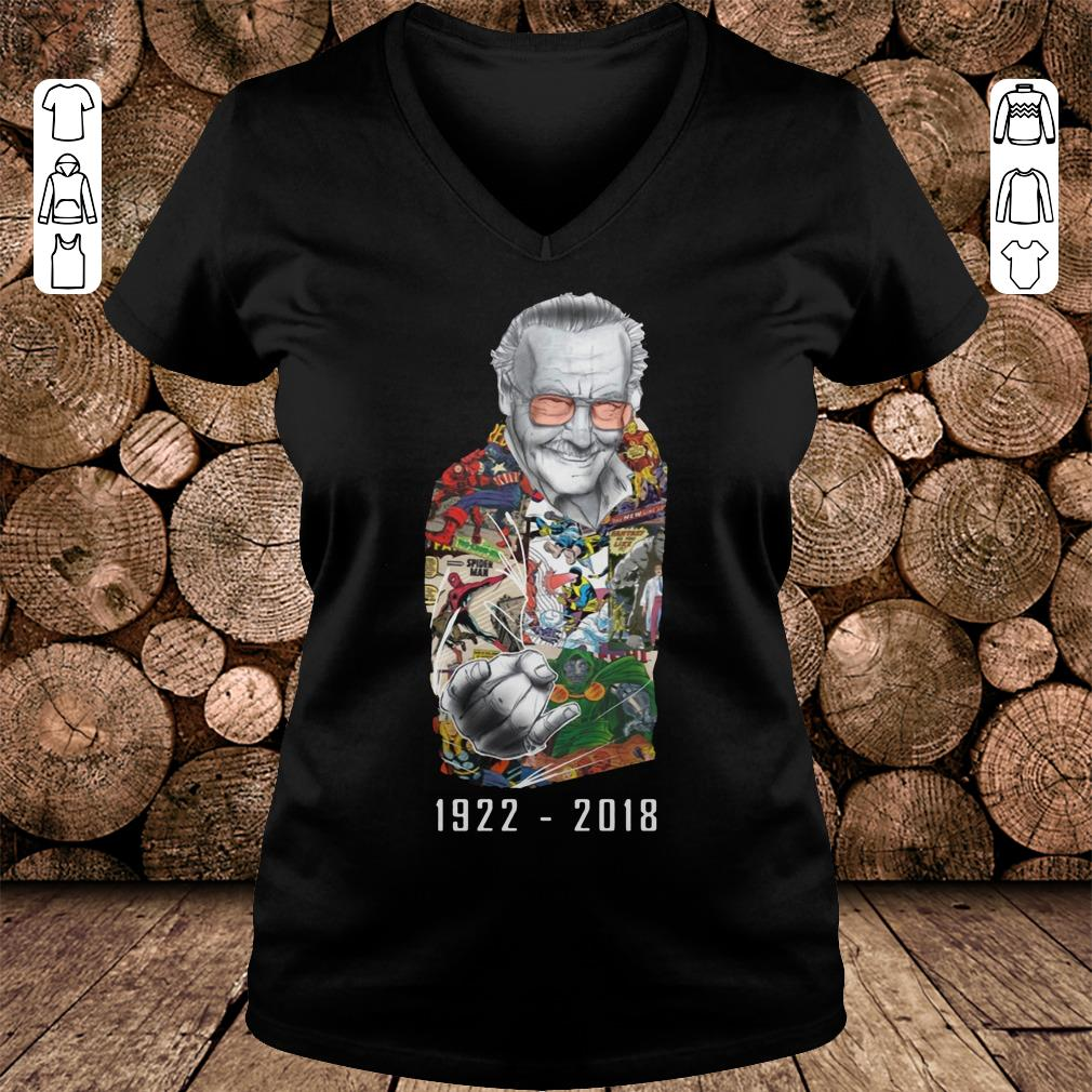 RIP Stan Lee 1922-2018 shirt Ladies V-Neck
