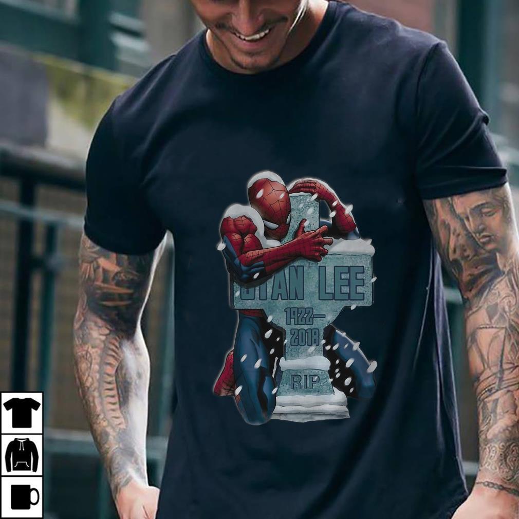 Spider Man hug grave Stan Lee shirt 1