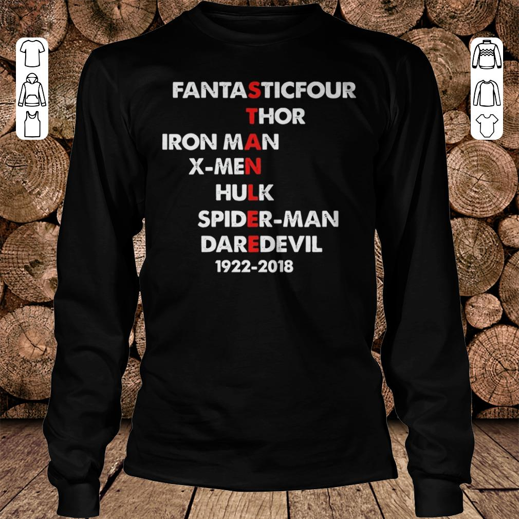 Stan Lee Fantasticfour Thor Iron Man X-men Hulk Spider-man DareDevil 1922 - 2018 Shirt Longsleeve Tee Unisex