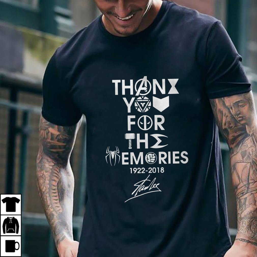 - Stan Lee thank you for the memories shirt