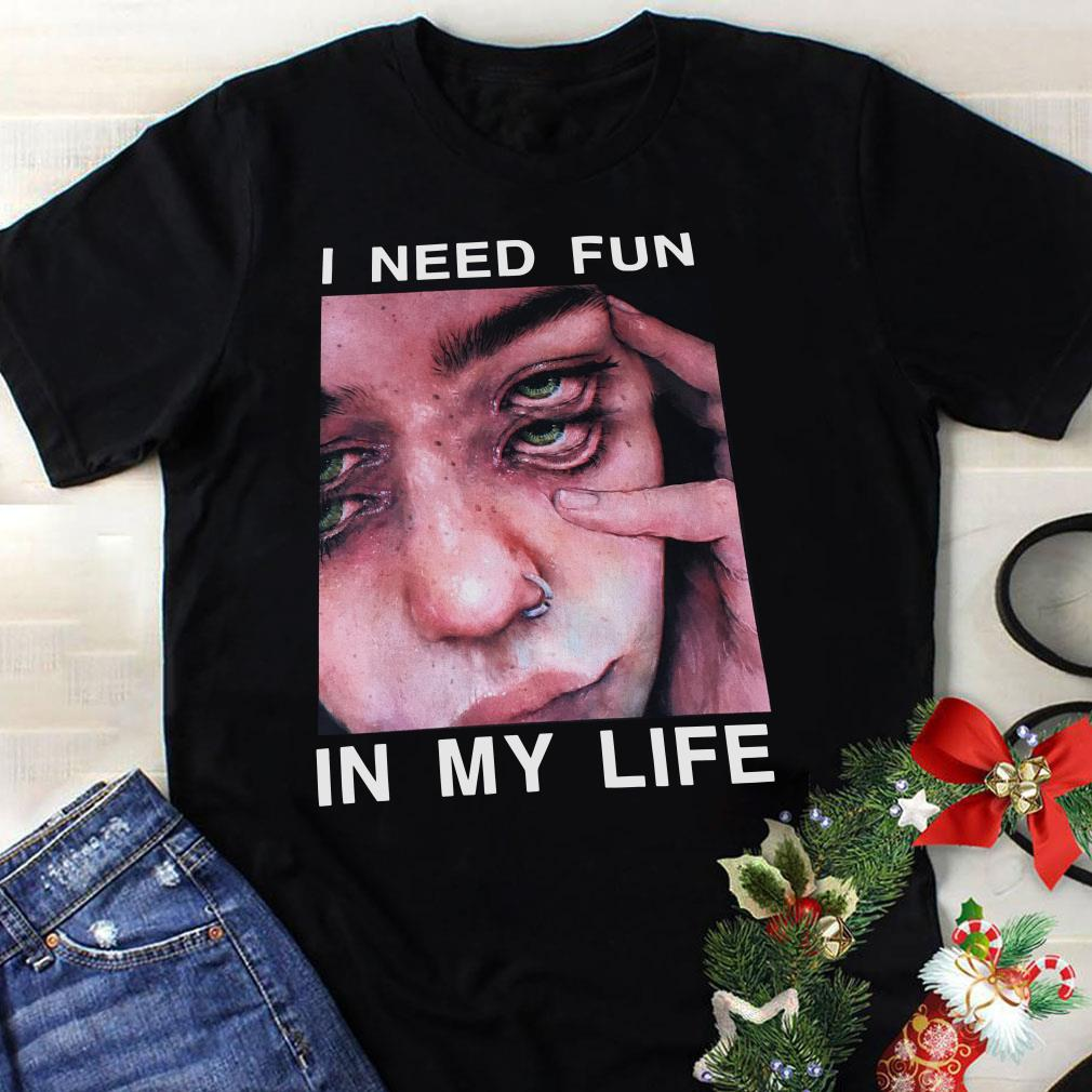 - The Drums Surreal Glitchy I need fun in my life shirt