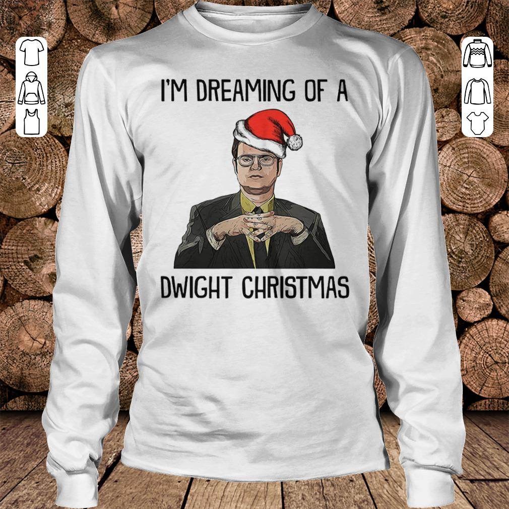 The Office I'm dreaming of a dwight christmas shirt Longsleeve Tee Unisex