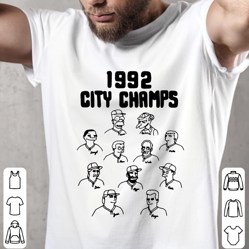 - The Simpsons 1992 city champs shirt