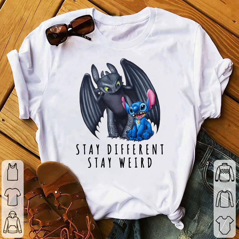 Toothless and Stitch Stay different stay weird shirt 1