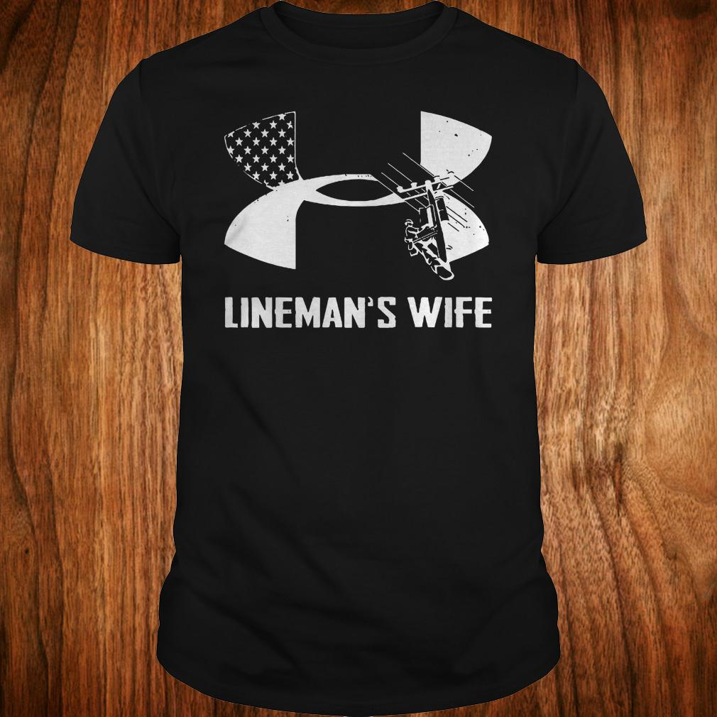 Under Armour Lineman's Wife shirt Classic Guys / Unisex Tee
