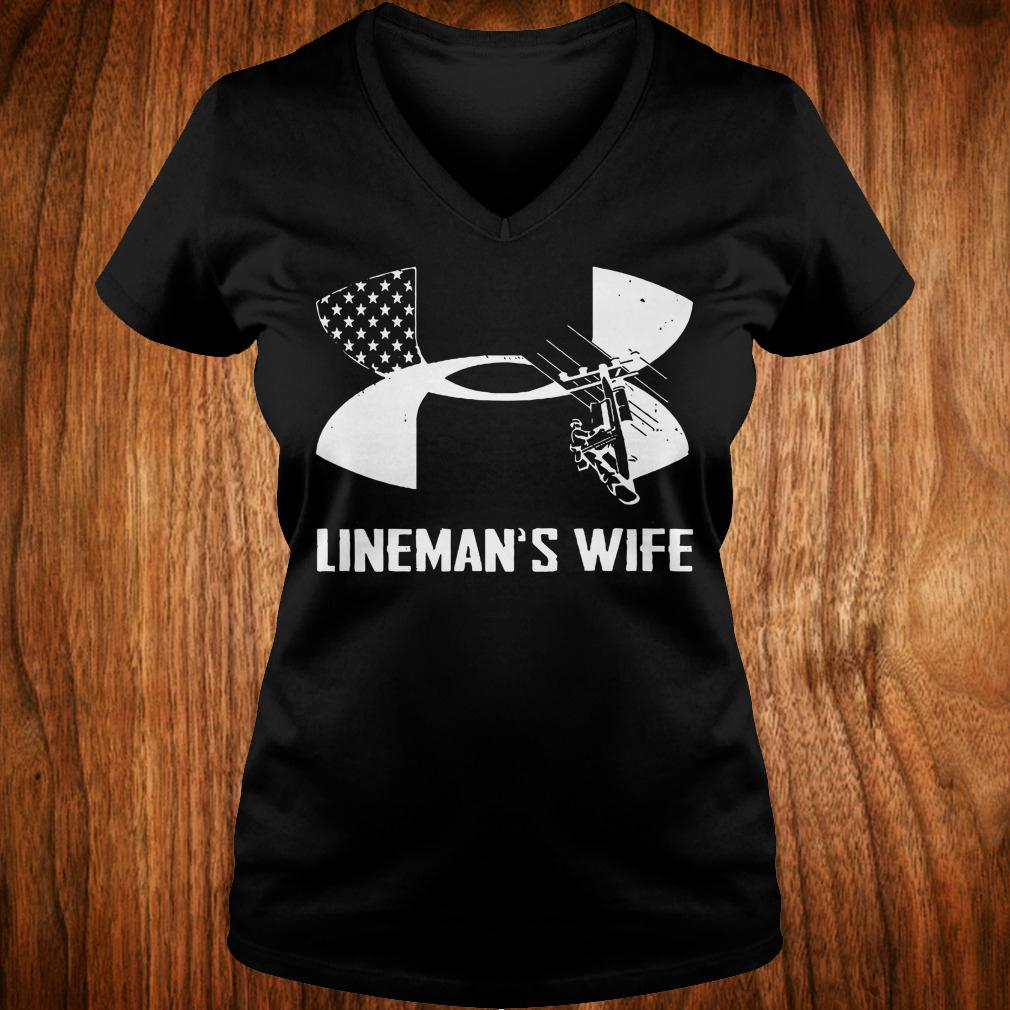 Under Armour Lineman's Wife shirt Ladies V-Neck