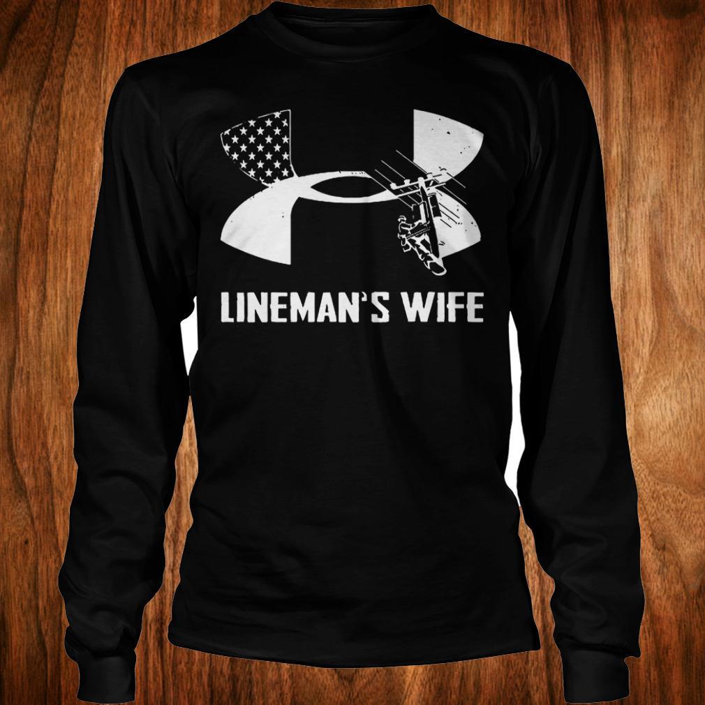 Under Armour Lineman's Wife shirt Longsleeve Tee Unisex