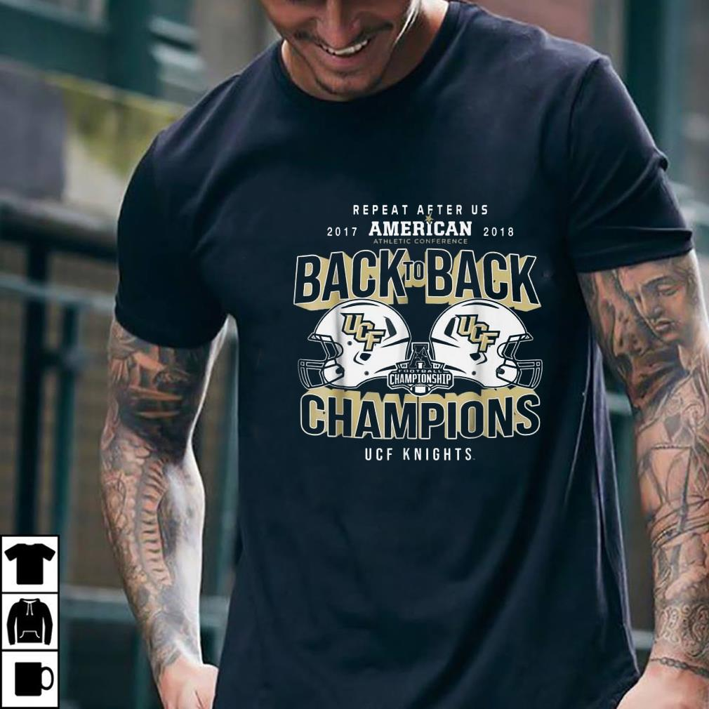 2018 Athletic conference back to back champions UCF Knights Repeat after US 2017 American shirt 2