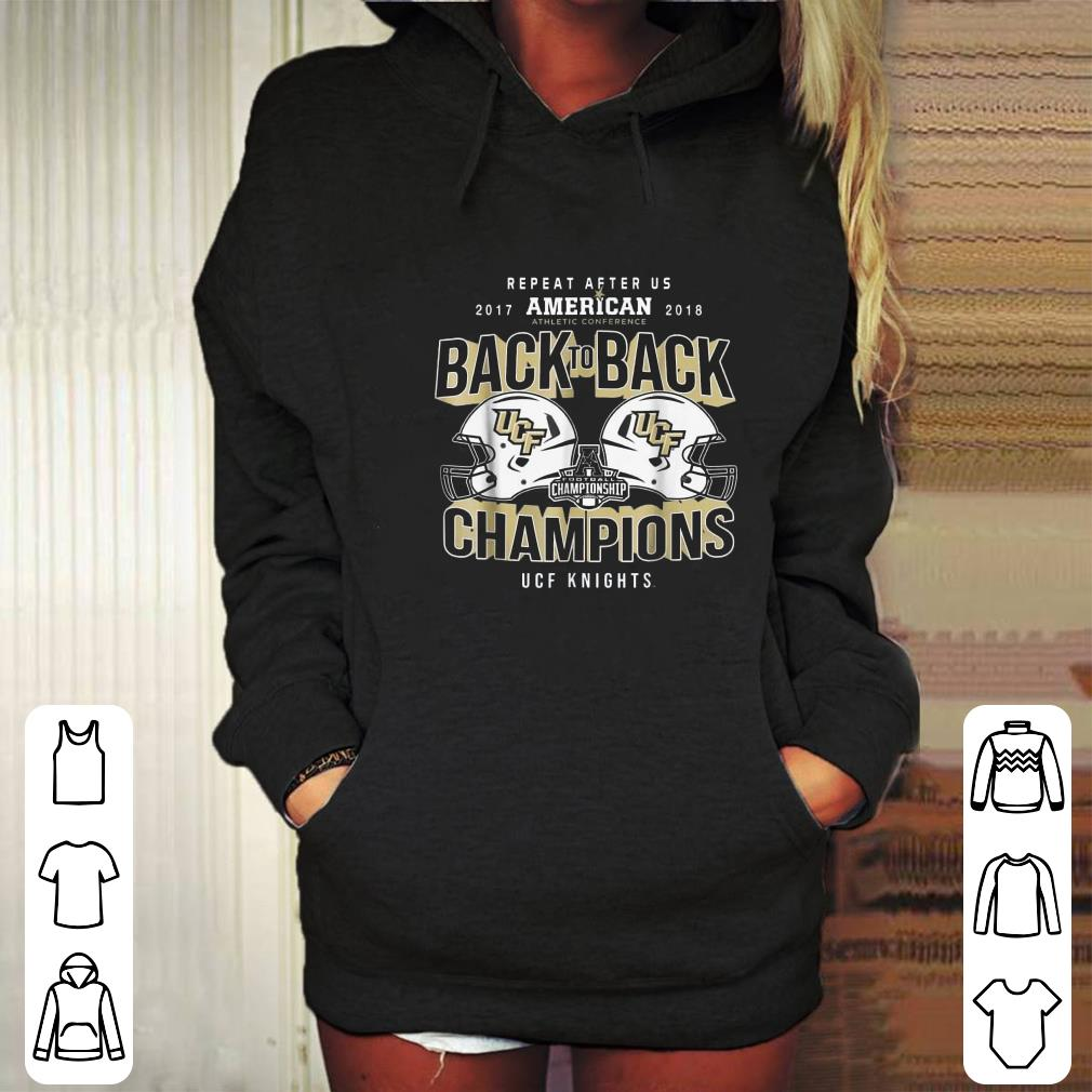 size 40 015d0 093ba 2018 Athletic conference back to back champions UCF Knights Repeat after US  2017 American shirt