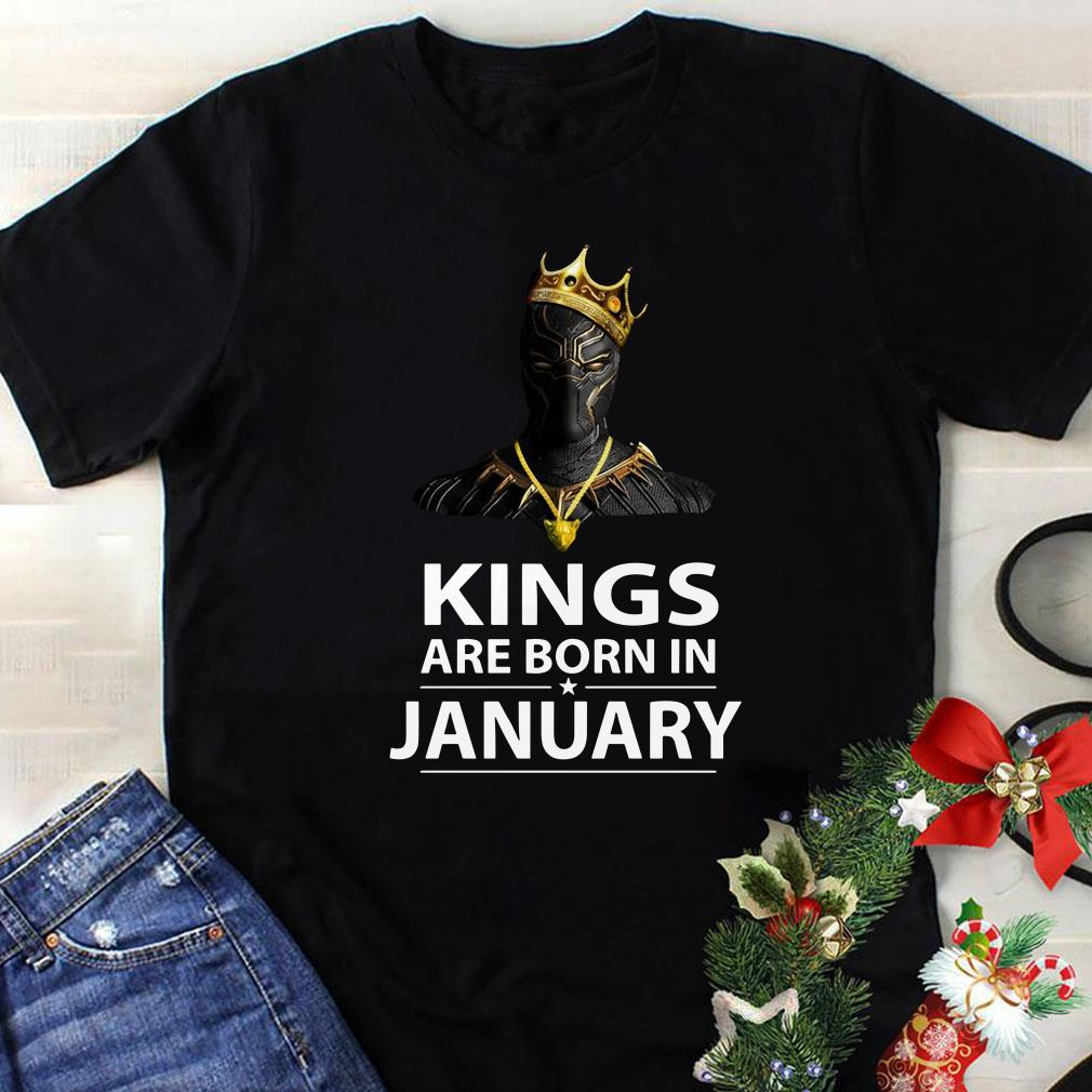 Black Panther Kings are born in January shirt 1