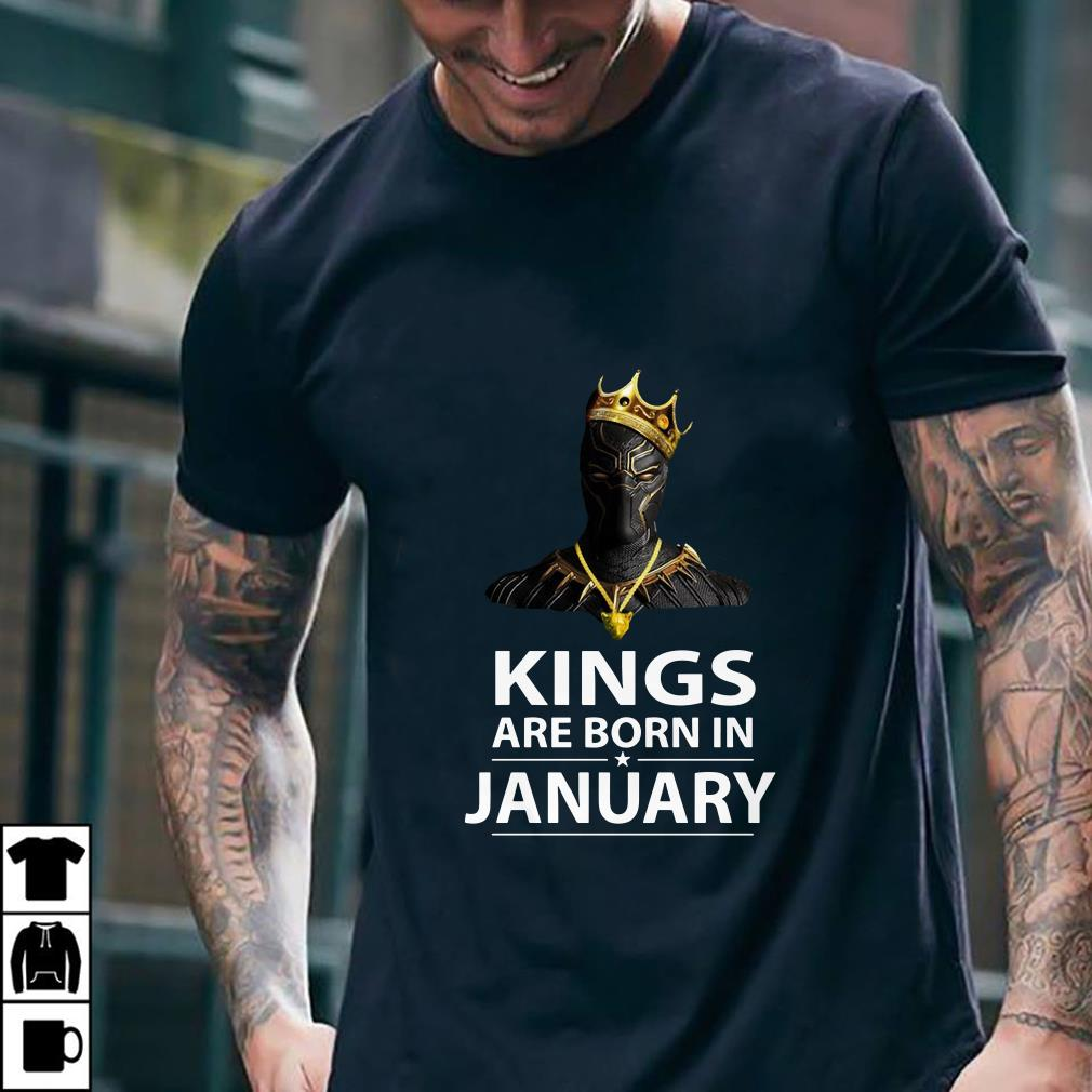 Black Panther Kings are born in January shirt 2
