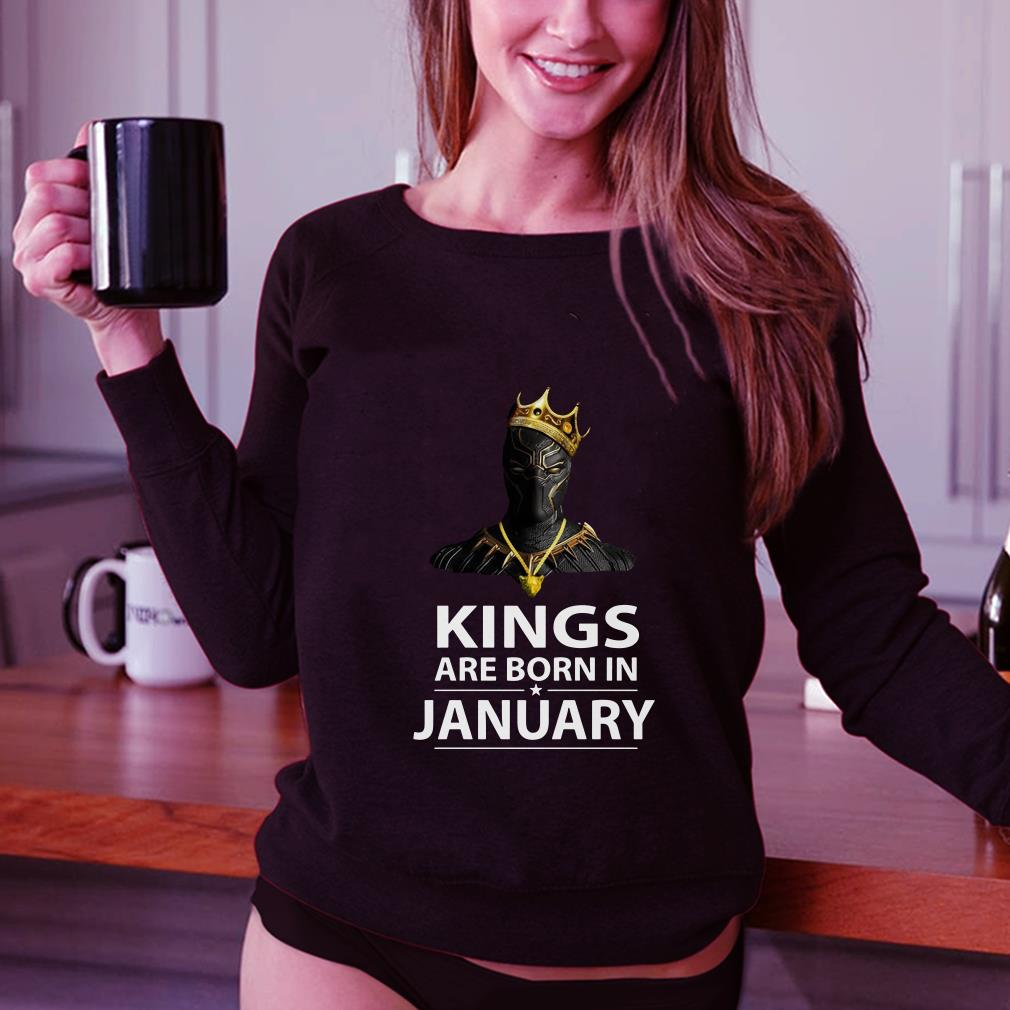 Black Panther Kings are born in January shirt 3
