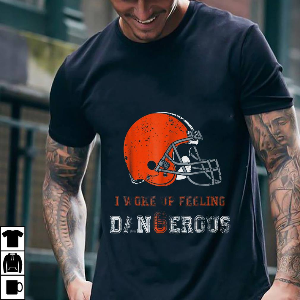 Funny Football I Woke Up Feeling Dangerous shirt 2