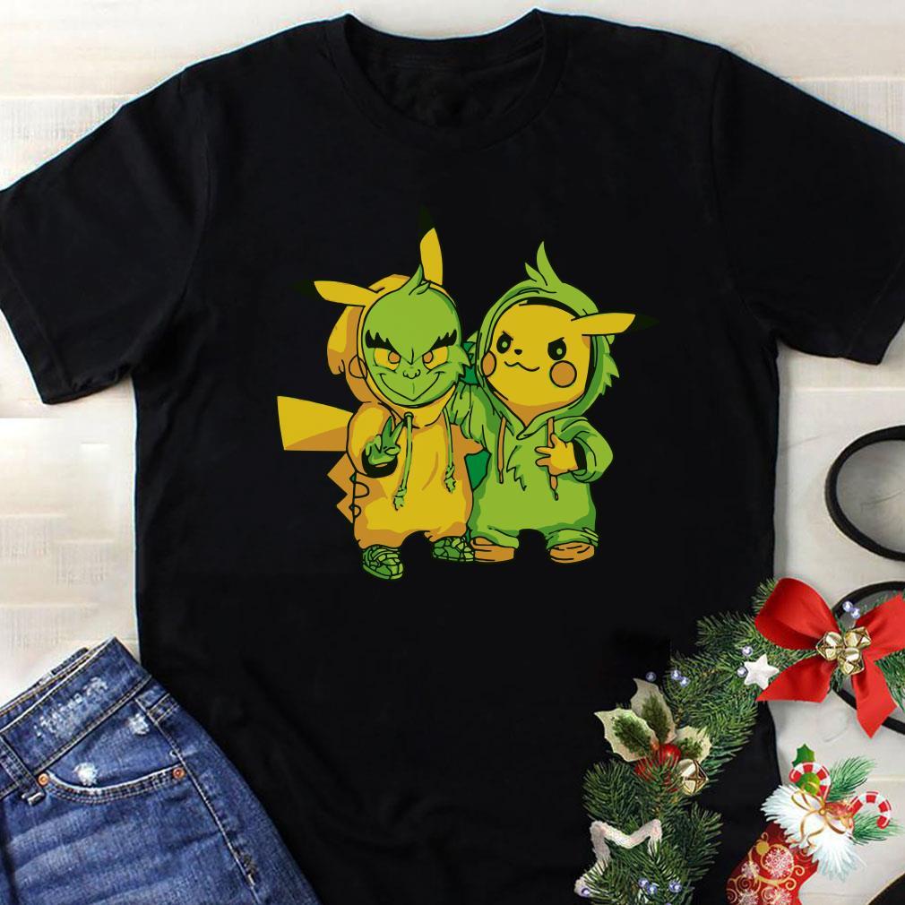 Grinch and Pikachu shirt 1