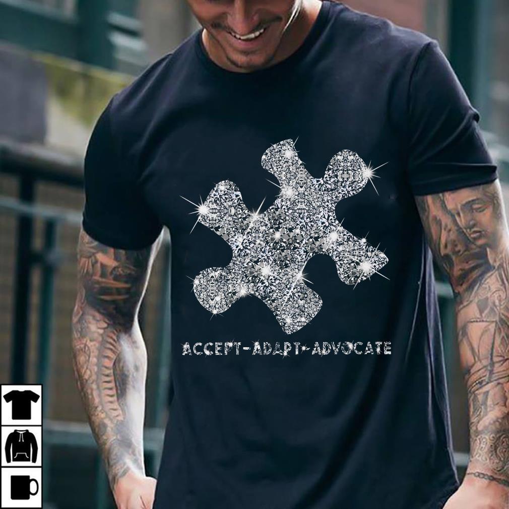 - Austism diamon glitter accept adapt advocate shirt