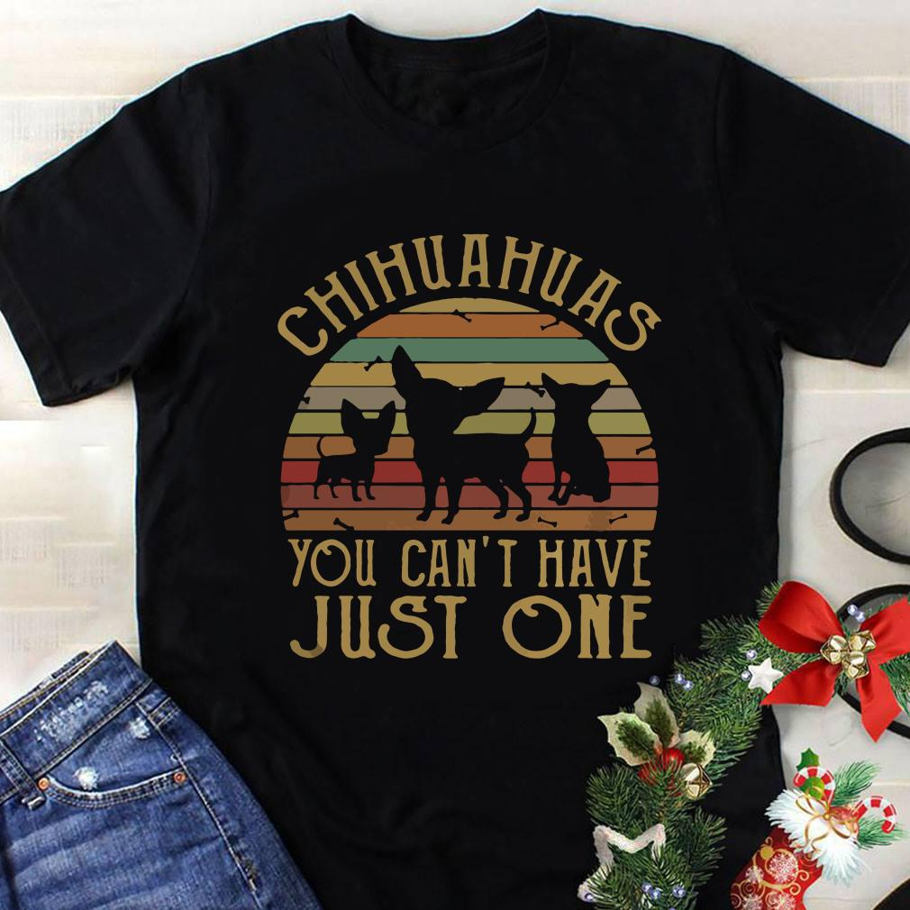 58309f3b Chihuahuas you can't have just one vintage sunset shirt, hoodie, sweater