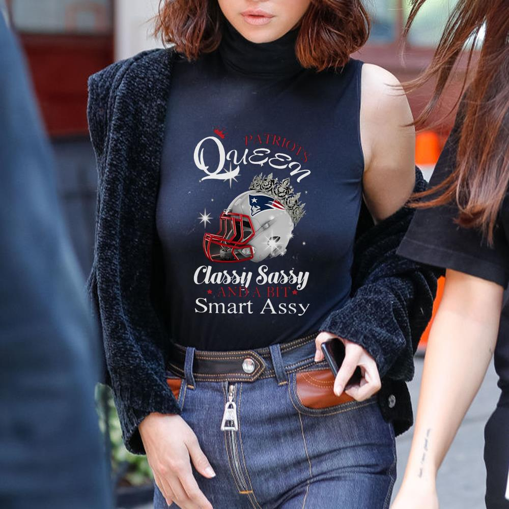 Classy sassy and a bit smart assy Patriot queen with crown shirt 3