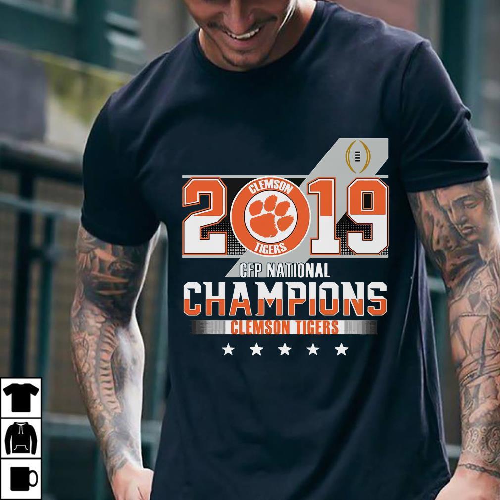 Clemson Tiger 2019 CFP national champions shirt 2