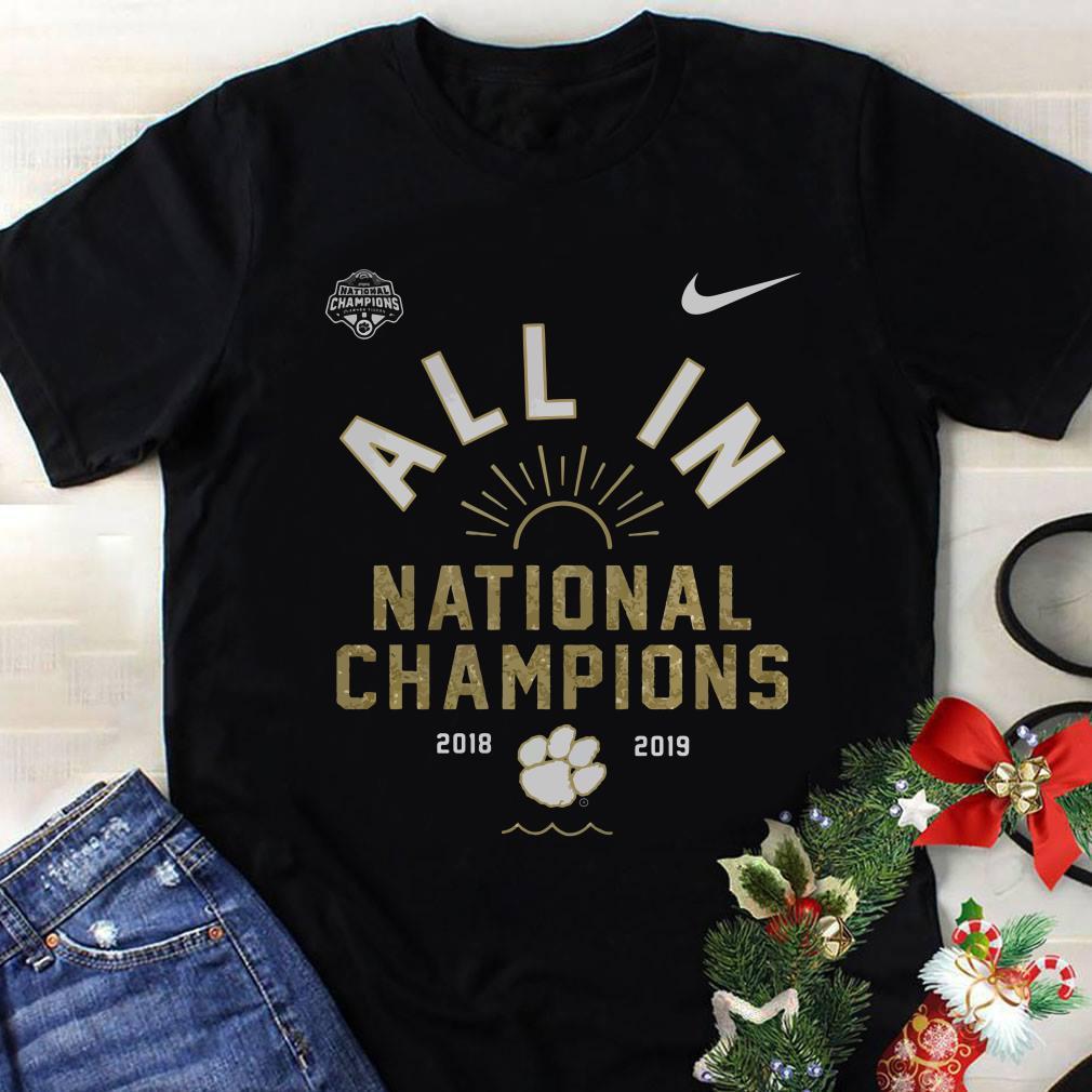 Clemson Tigers championship football shirt 1