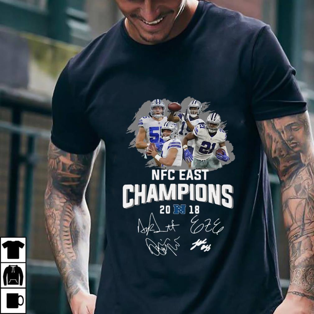 Dallas Cowboys players NFC East champions 2018 signature shirt 2