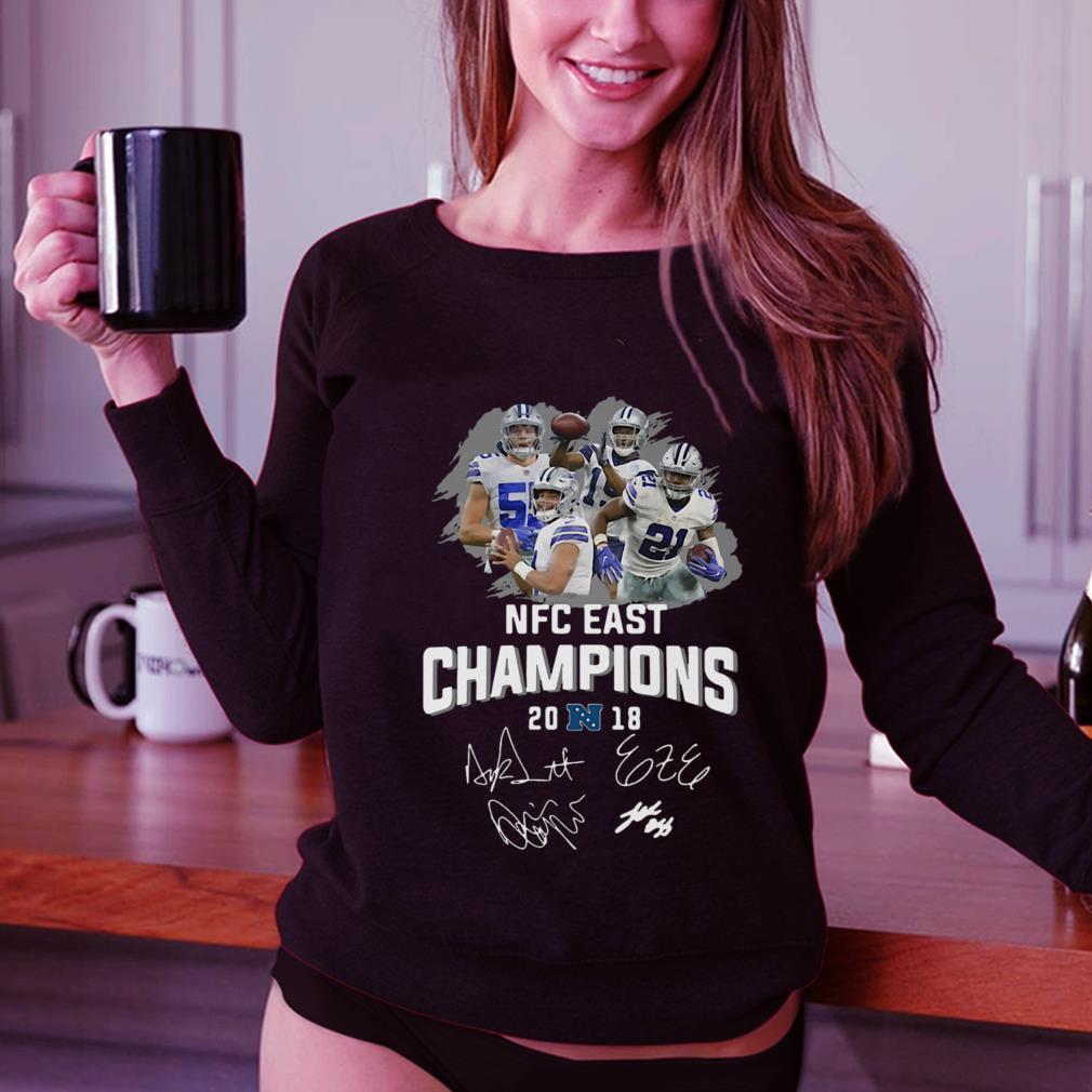 Dallas Cowboys players NFC East champions 2018 signature shirt 3