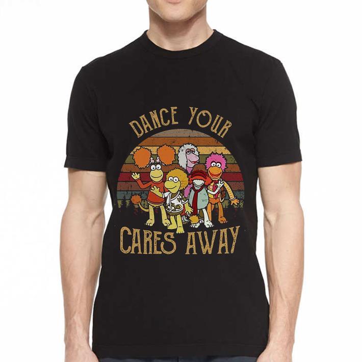 - Fraggle Rock dance your Cares away sunset shirt