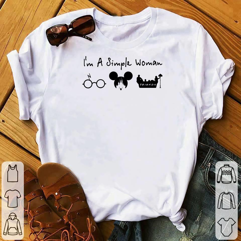 I'm a simple woman I like Harry Potter, Disney and Friends shirt 1